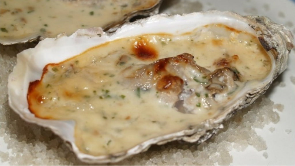 Huîtres gratinées sauce roquefort