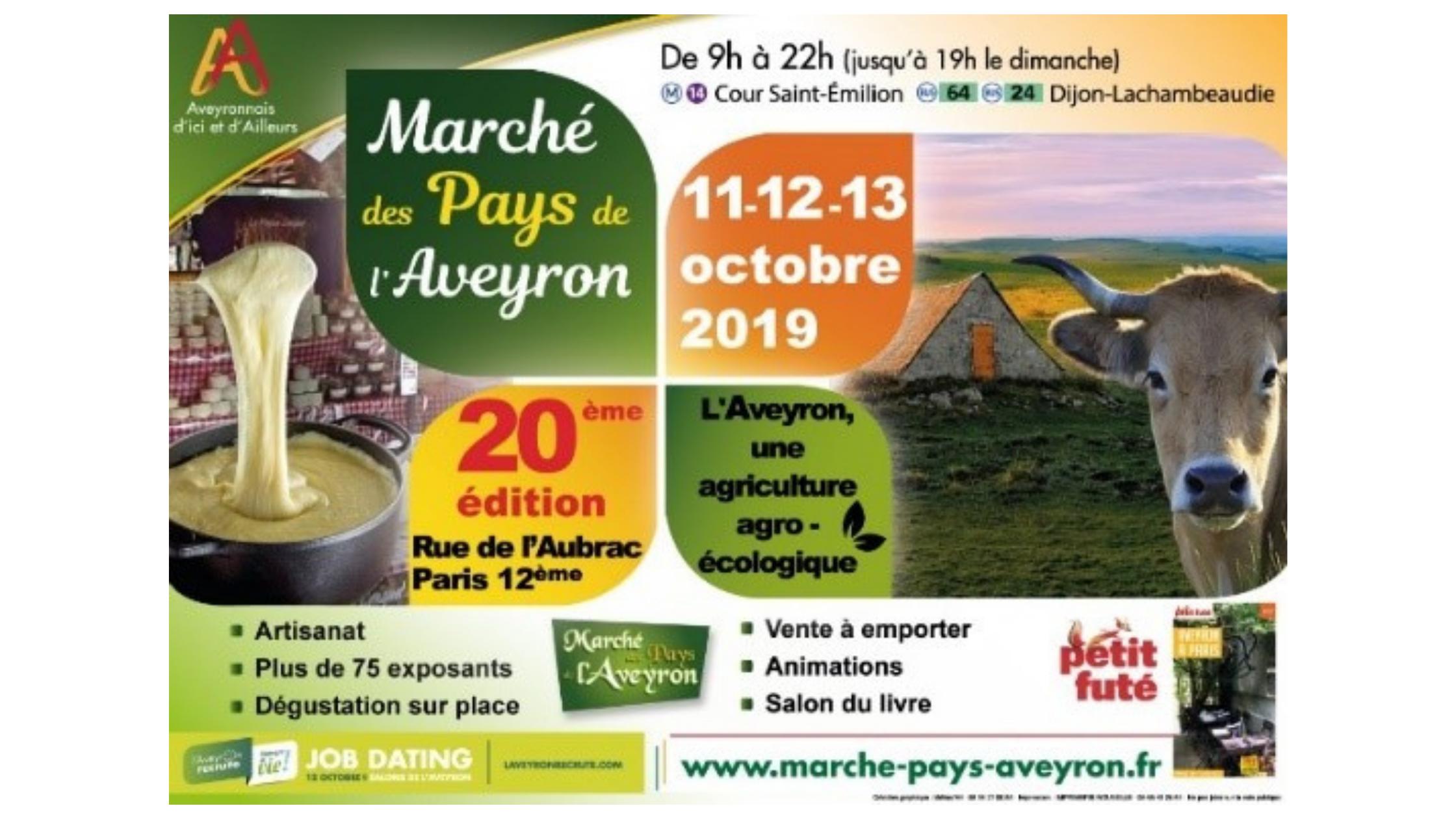 20e édition du marché des pays de l'Aveyron