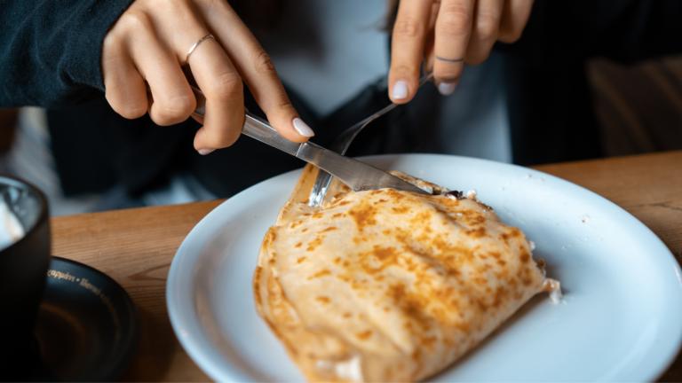 Crêpe salée au Roquefort Vernières et noix